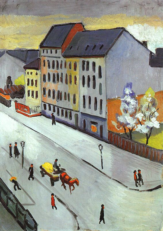 Our Street in Gray (Unsere Strasse in Grau), 1911