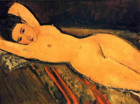 Reclining Nude, Arms Folded under Her Head 1916 Amedeo Modigliani
