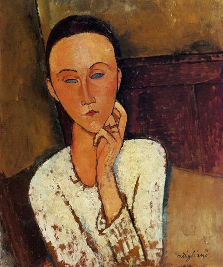 Lunia Czechowska, Left Hand on Her Cheek 1918 Amedeo Modigliani