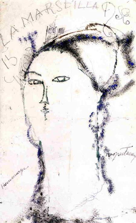 Madame Othon Friesz, La Marseillaise 1915 Amedeo Modigliani