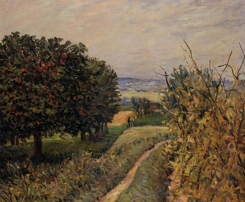 Among the Vines  1874 | Alfred Sisley | Oil Painting