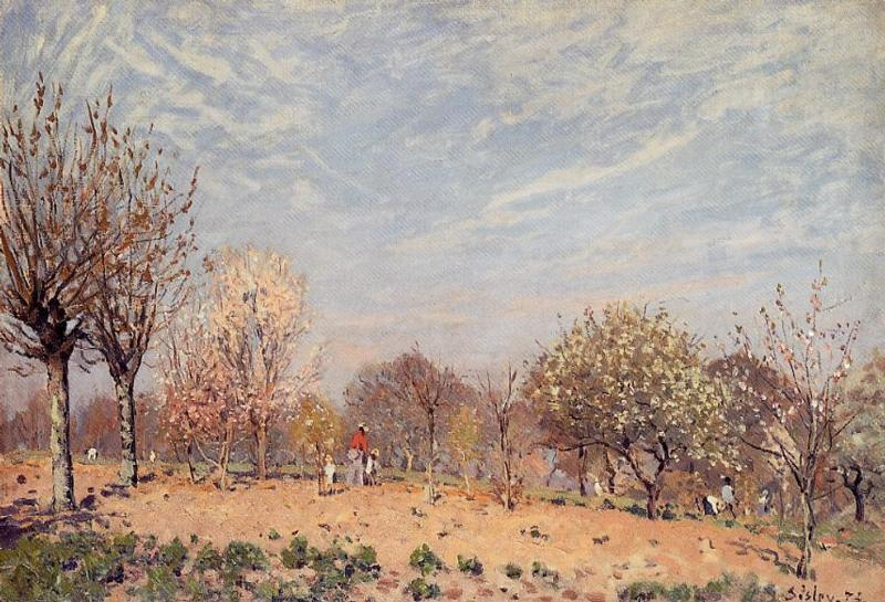 Apple Trees in Flower Spring Morning  1873 | Alfred Sisley | Oil Painting