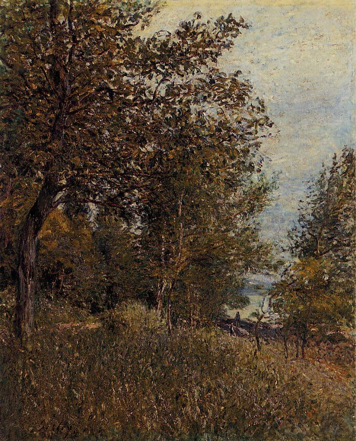 A Corner of the Roches-Courtaut Woods June  1884 | Alfred Sisley | Oil Painting