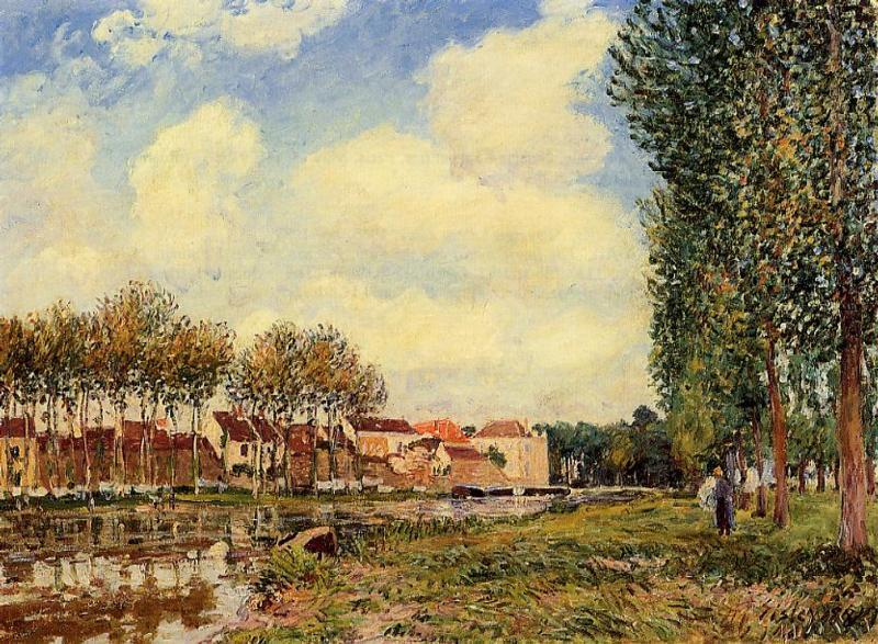 Banks of the Loing at Moret Morning  1888 | Alfred Sisley | Oil Painting