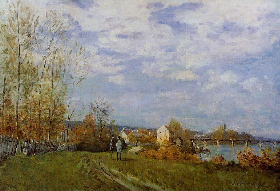 Banks of the Seine at Bougival  1876 | Alfred Sisley | Oil Painting