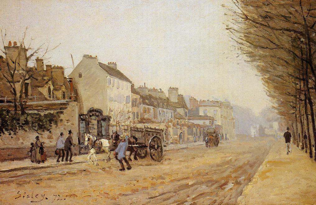 Boulevard Heloise Argenteuil  1872 | Alfred Sisley | Oil Painting