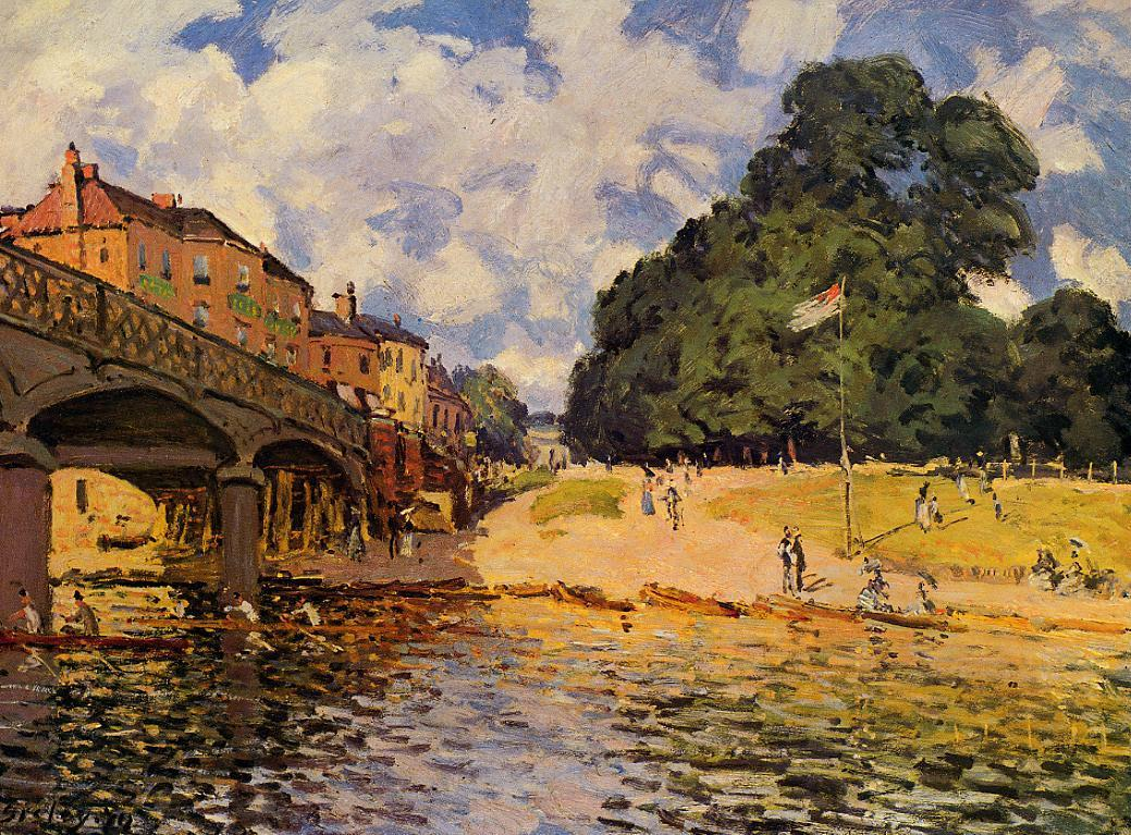 Bridge at Hampton Court  1874 | Alfred Sisley | Oil Painting