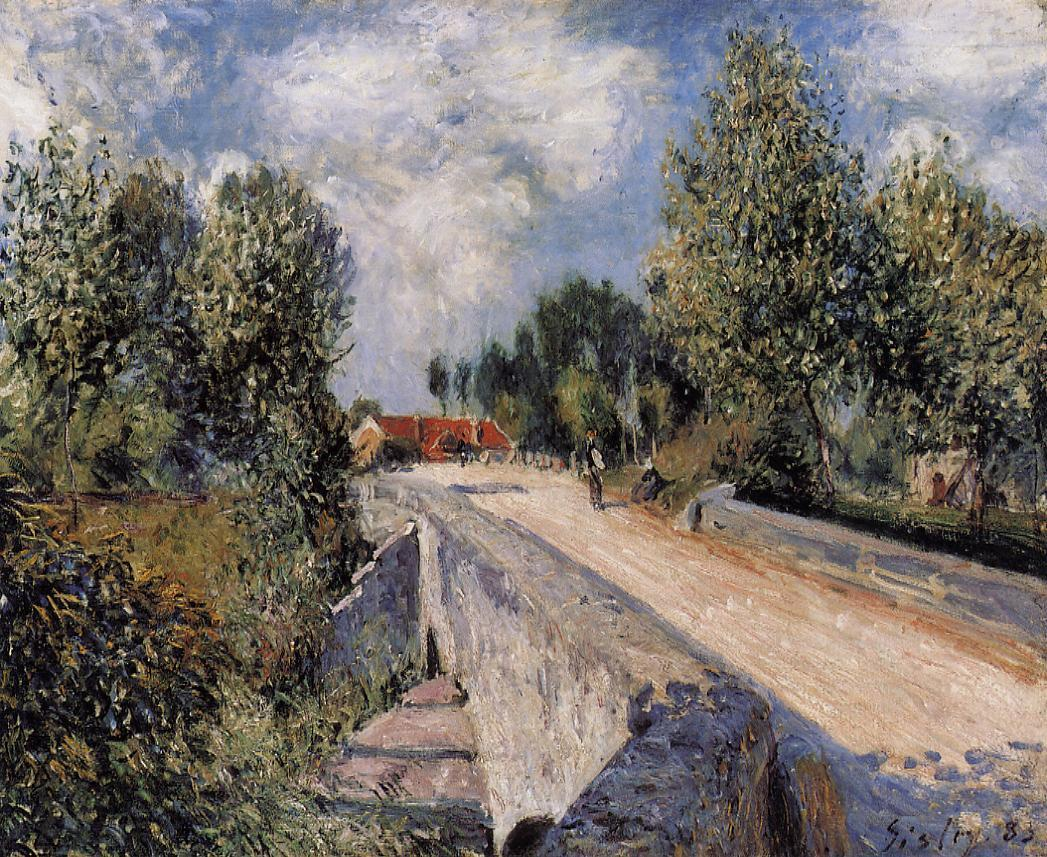 Bridge over the Orvanne near Moret  1883 | Alfred Sisley | Oil Painting