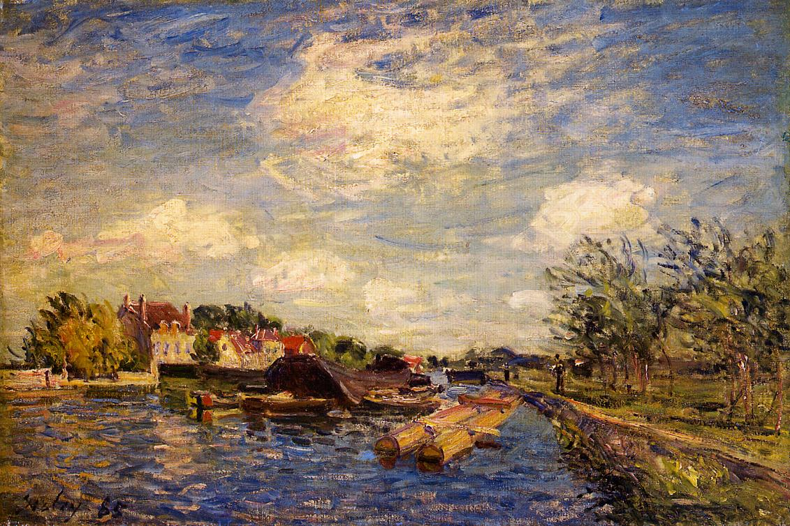 By the Loing  1885 | Alfred Sisley | Oil Painting