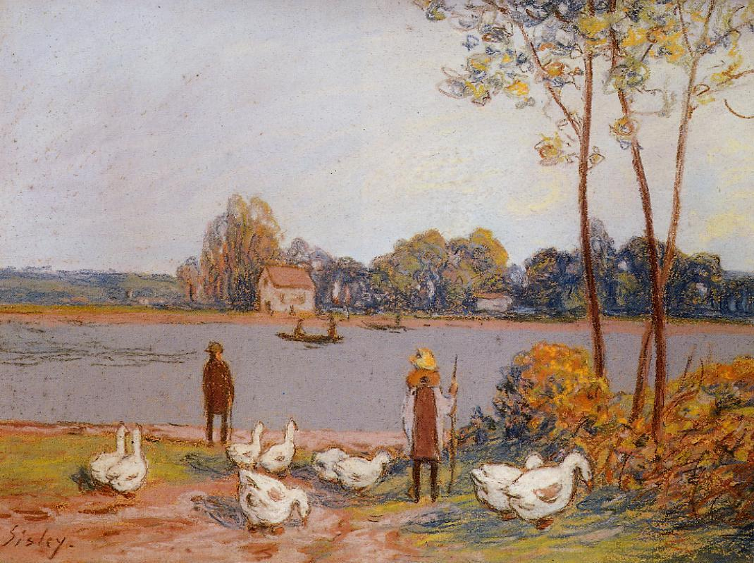 By the River Loing  1896 | Alfred Sisley | Oil Painting