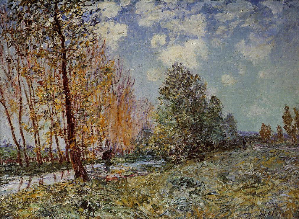 By the River  1881 | Alfred Sisley | Oil Painting