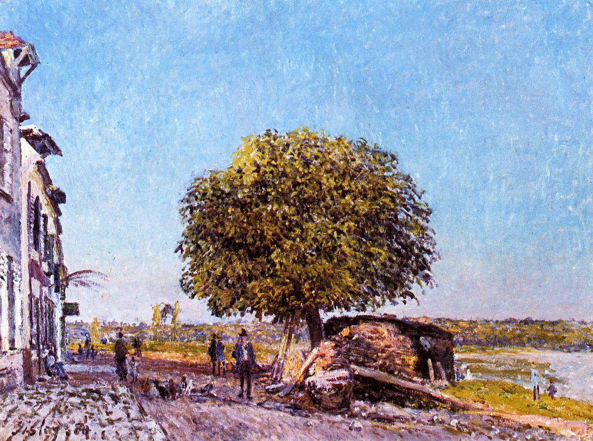 Chestnut Tree at Saint-Mammes  1880 | Alfred Sisley | Oil Painting