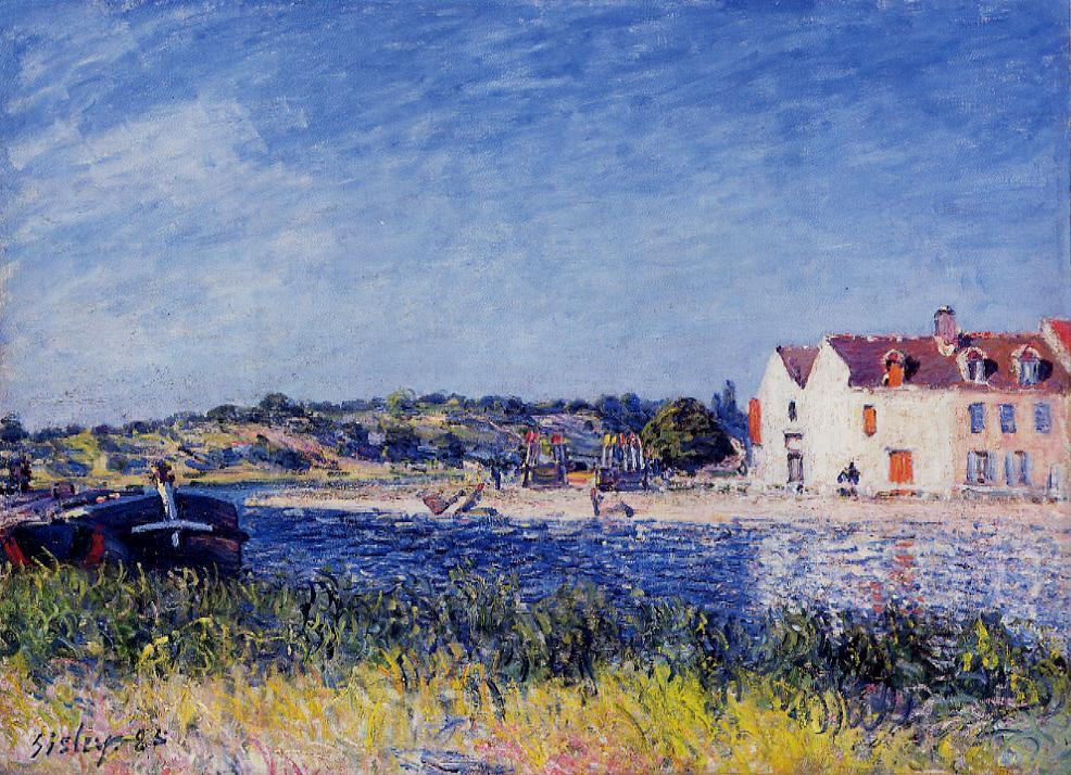 Confluence of the Seine and the Loint  1885 | Alfred Sisley | Oil Painting