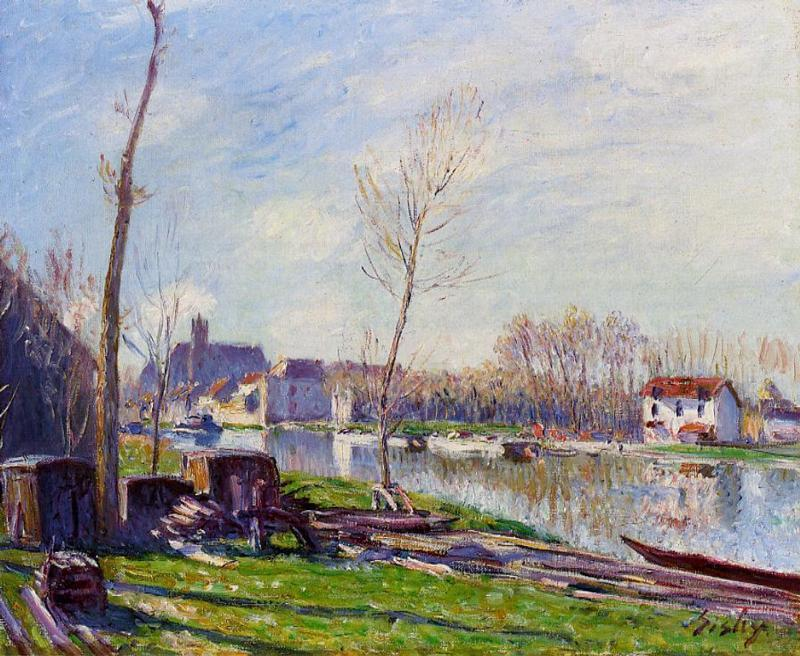 Construction Site at Matrat Moret-sur-Loing  1888 | Alfred Sisley | Oil Painting