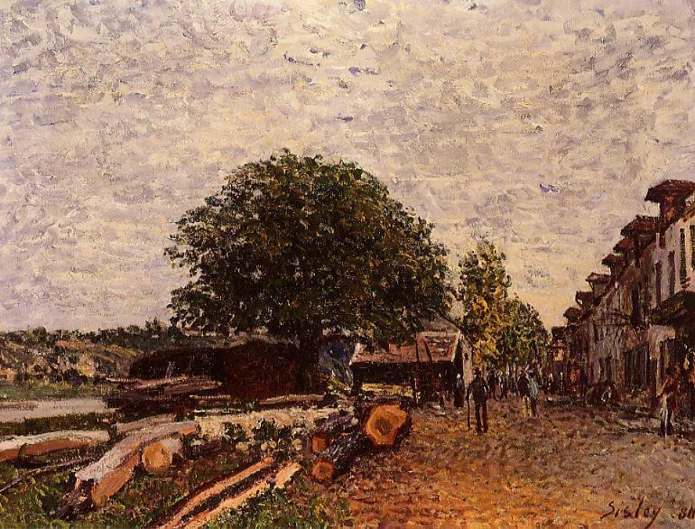 Construction Site at Saint-Mammes  1880 | Alfred Sisley | Oil Painting