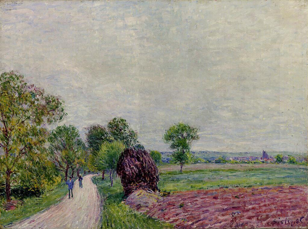 Countryside near Moret  1885 | Alfred Sisley | Oil Painting