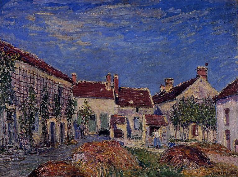 Courtyard at Les Sablons  1885 | Alfred Sisley | Oil Painting