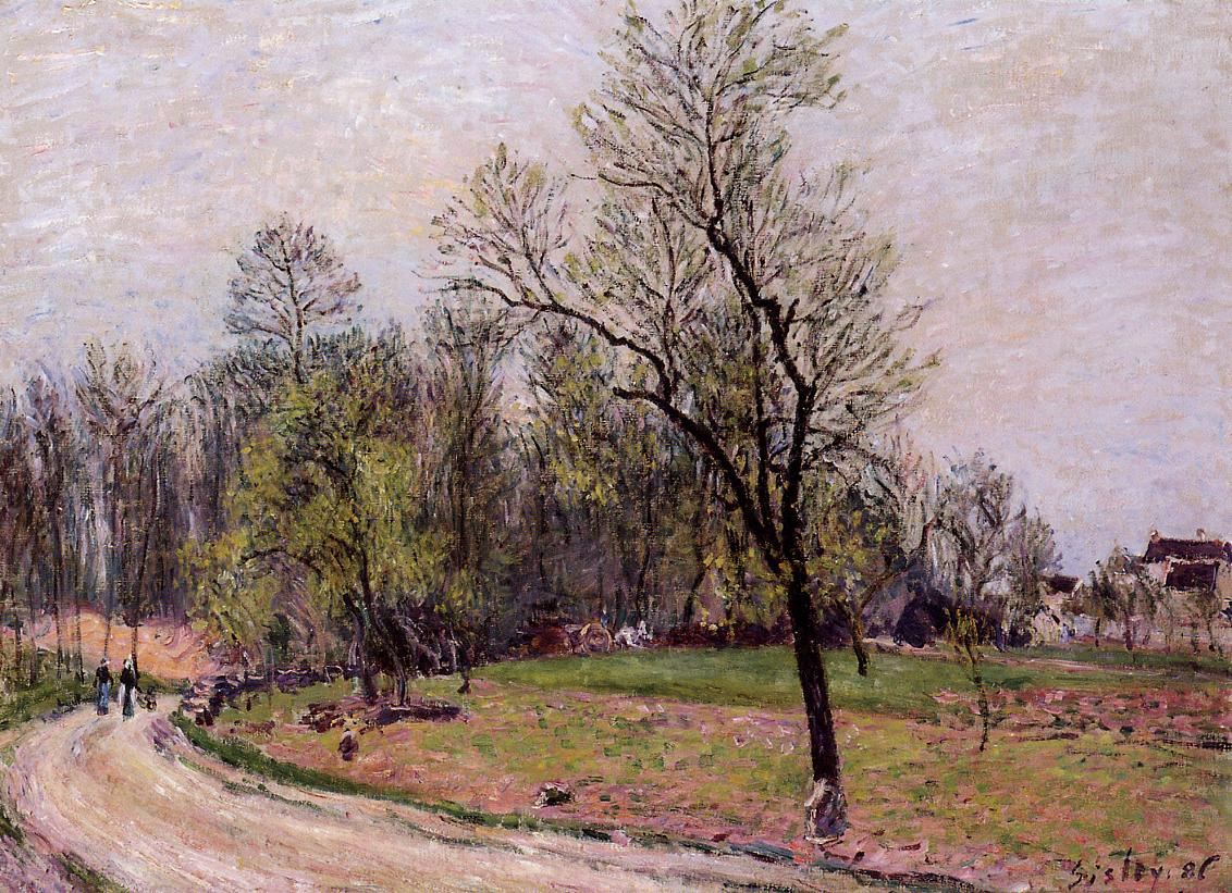 Edge of the Forest in Spring Evening  1886 | Alfred Sisley | Oil Painting