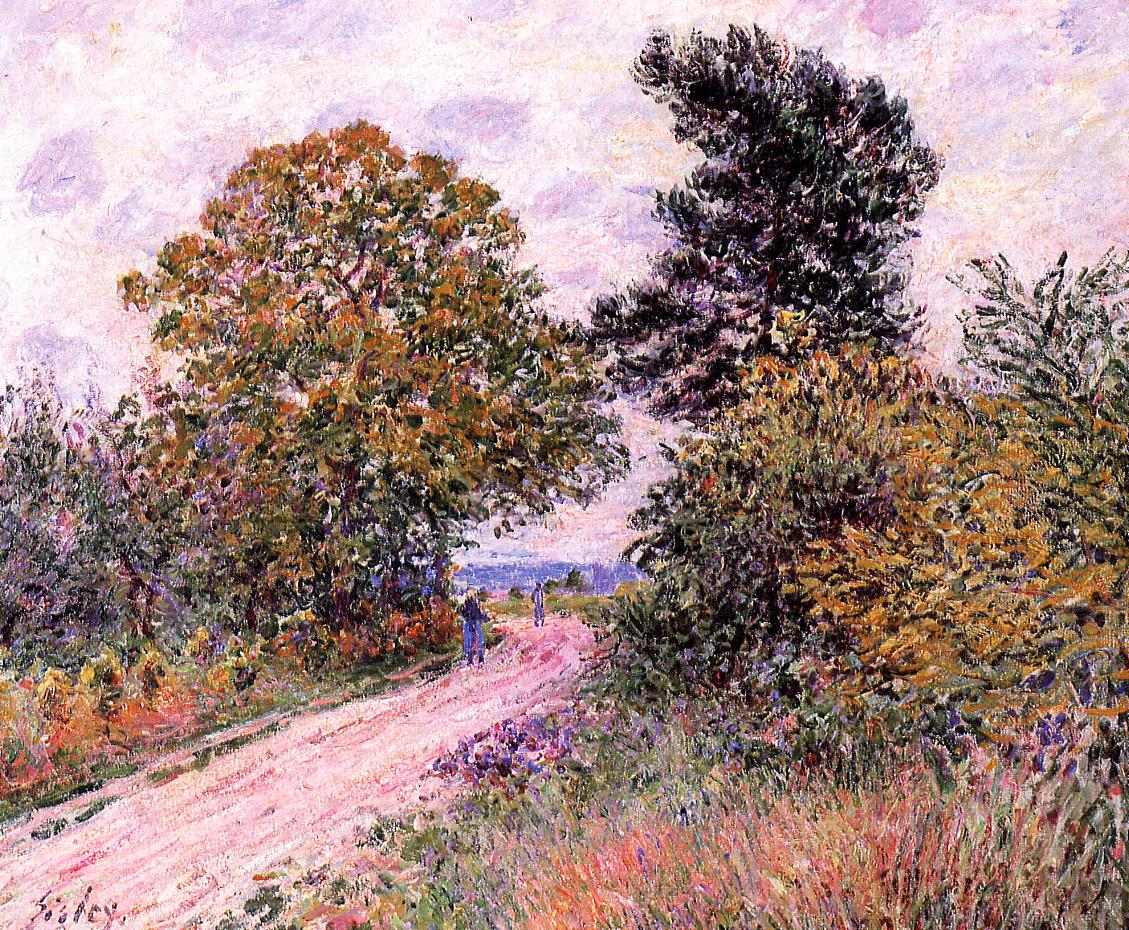 Edge of the Fountainbleau Forest - Morning  1885-1886 | Alfred Sisley | Oil Painting