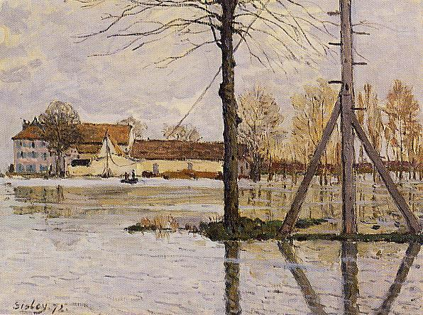 Ferry to the Ile-de-la-Loge Flood  1872 | Alfred Sisley | Oil Painting