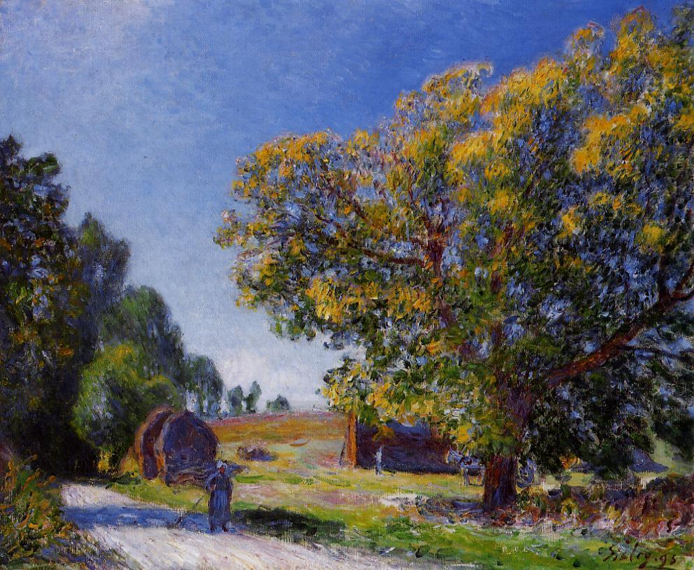 Fields around the Forest  1895 | Alfred Sisley | Oil Painting