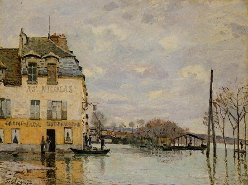 Flood at Port-Marly  1872 | Alfred Sisley | Oil Painting
