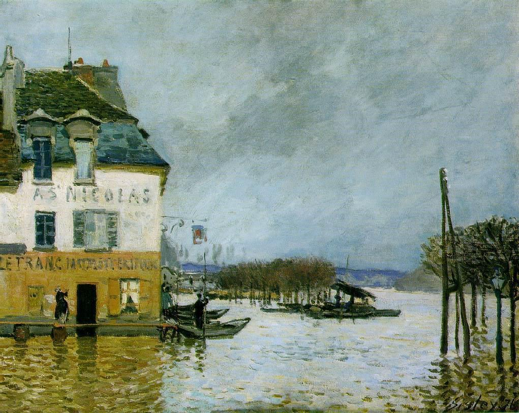 Flood at Port-Marly  1876 2 | Alfred Sisley | Oil Painting