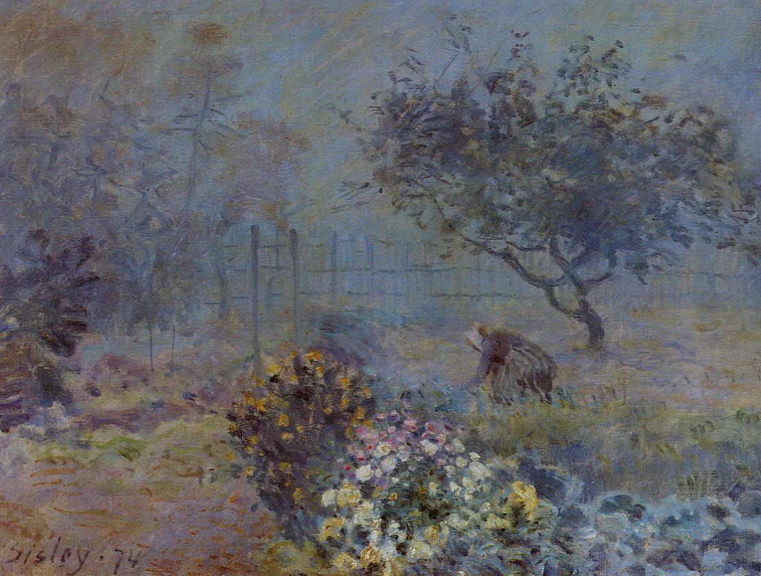 Foggy Morning Voisins  1874 | Alfred Sisley | Oil Painting
