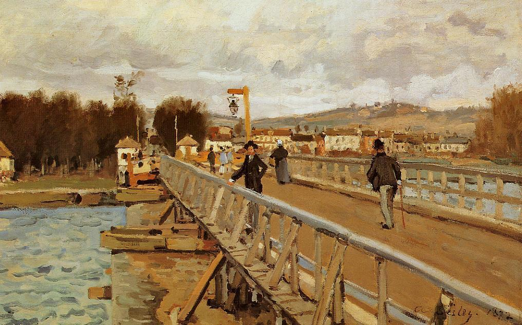 Footbridge at Argenteuil  1872 | Alfred Sisley | Oil Painting