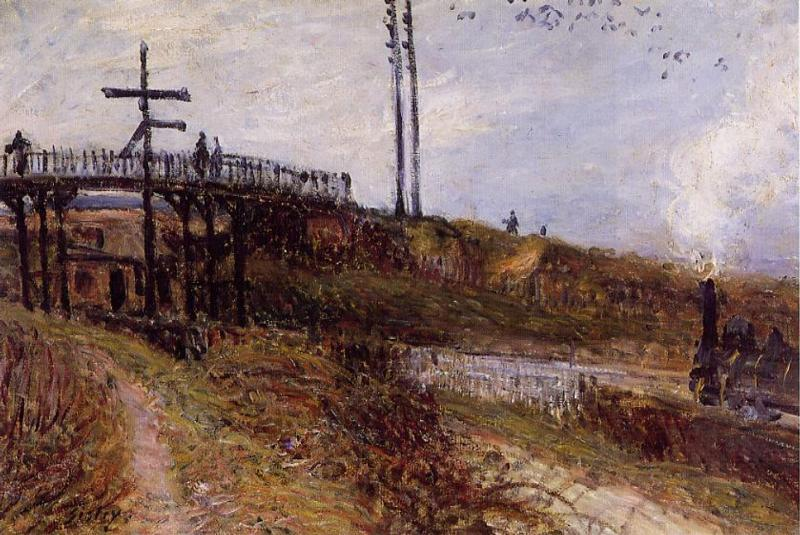 Footbridge over the Railroad at Sevres  1879 | Alfred Sisley | Oil Painting