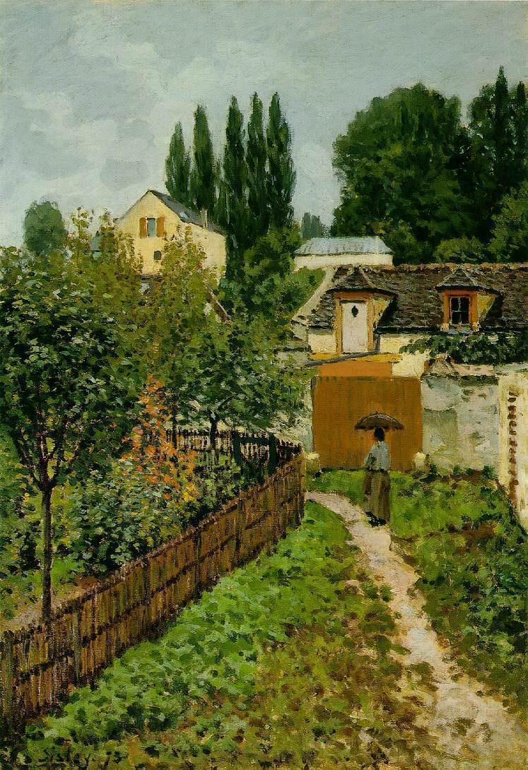 Garden Path in Louveciennes (aka Chemin de l'Etarch)  1873 | Alfred Sisley | Oil Painting