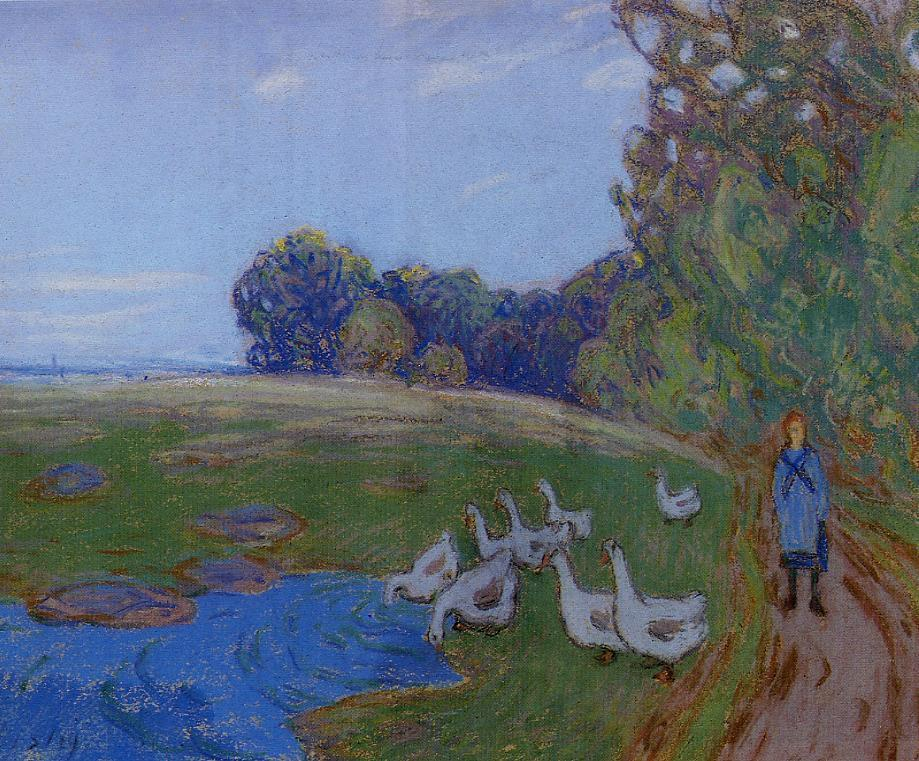 Goose Girl  1897 | Alfred Sisley | Oil Painting