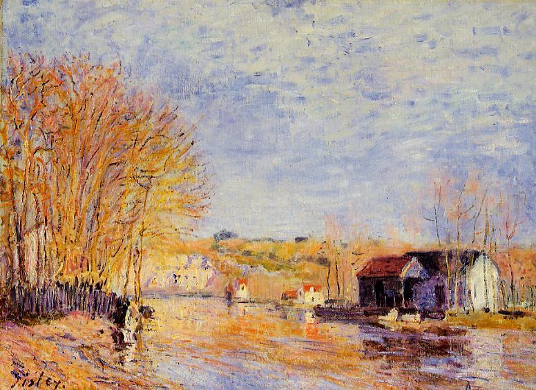 High Waters at Moret-sur-Loing  1879 | Alfred Sisley | Oil Painting