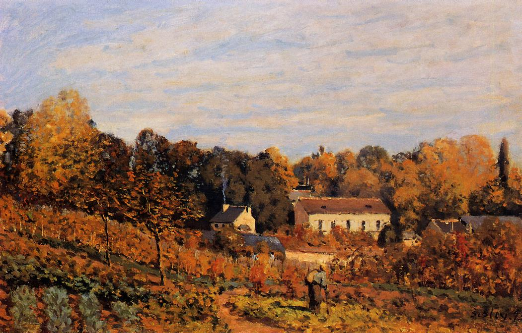 Kitchen Garden at Louveciennes  1873 | Alfred Sisley | Oil Painting