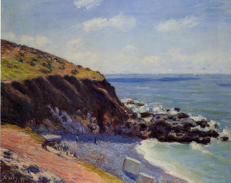 Lady's Cove - Langland Bay Morning  1897 | Alfred Sisley | Oil Painting