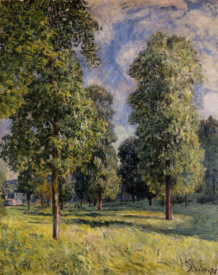 Landscape at Sevres  1878 | Alfred Sisley | Oil Painting
