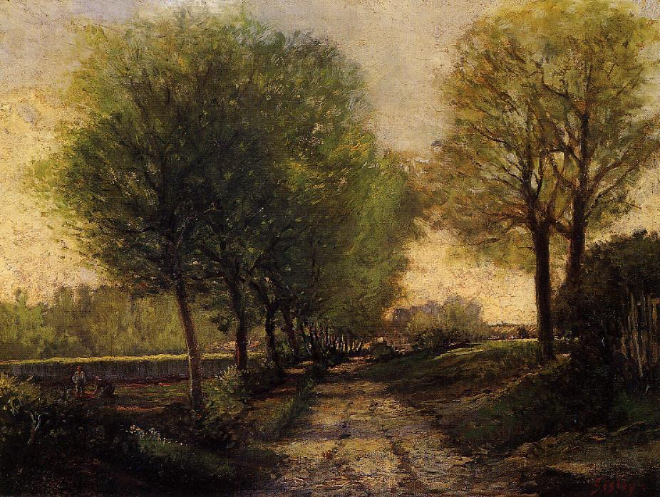 Lane near a Small Town  1864-1865 | Alfred Sisley | Oil Painting
