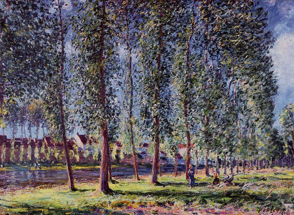 Lane of Poplars at Moret  1888 | Alfred Sisley | Oil Painting