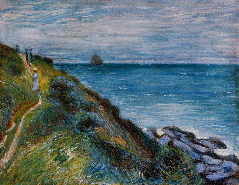On the Cliffs Langland Bay Wales  1897 | Alfred Sisley | Oil Painting