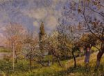 Orchard in Spring - By  1881 | Alfred Sisley | Oil Painting