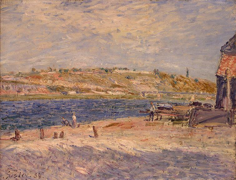Riverbanks at Saint-Mammes  1884 | Alfred Sisley | Oil Painting