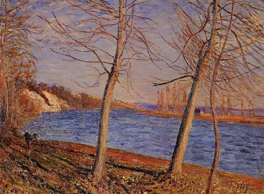 Riverbank at Veneux  1881 | Alfred Sisley | Oil Painting