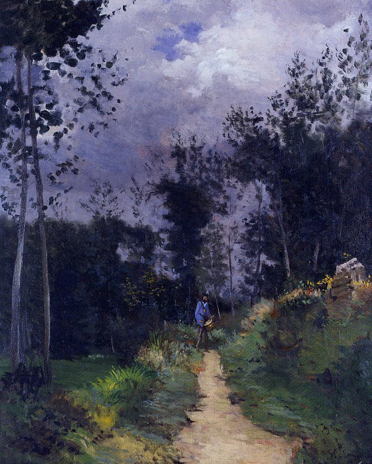 Rural Guardsman in the Fountainbleau Forest  1870 | Alfred Sisley | Oil Painting