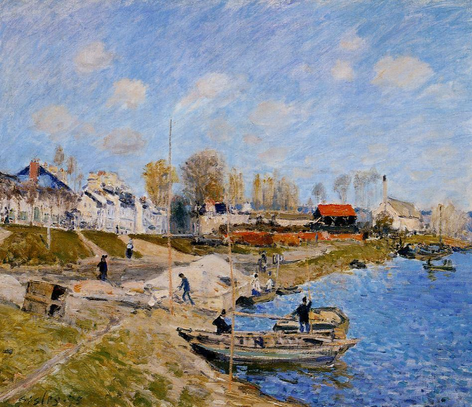 Sand on the Quayside Port-Marly  1875 | Alfred Sisley | Oil Painting