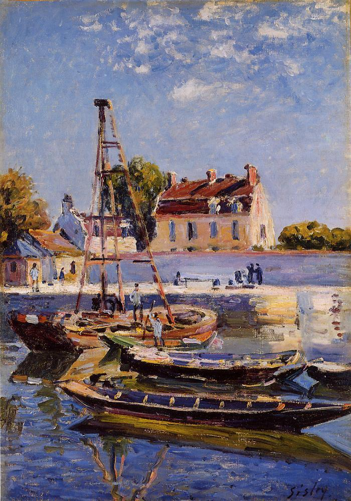 Small Boats  1885 | Alfred Sisley | Oil Painting