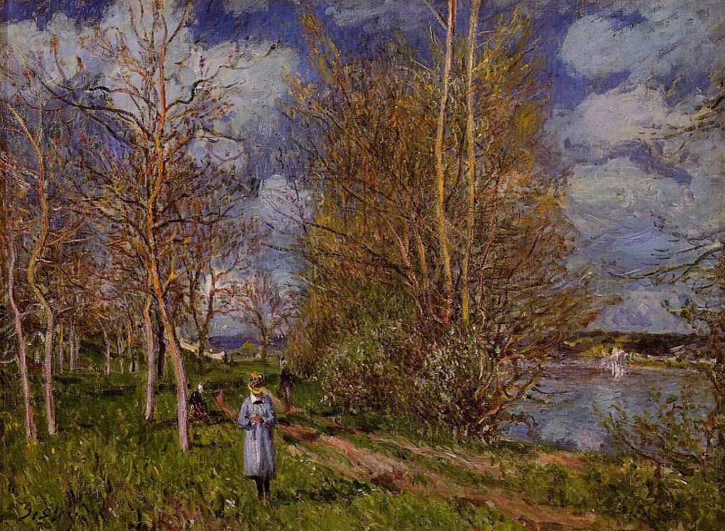 Small Meadows in Spring - By  1881 | Alfred Sisley | Oil Painting