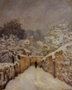Snow at Louveciennes  1878 | Alfred Sisley | Oil Painting