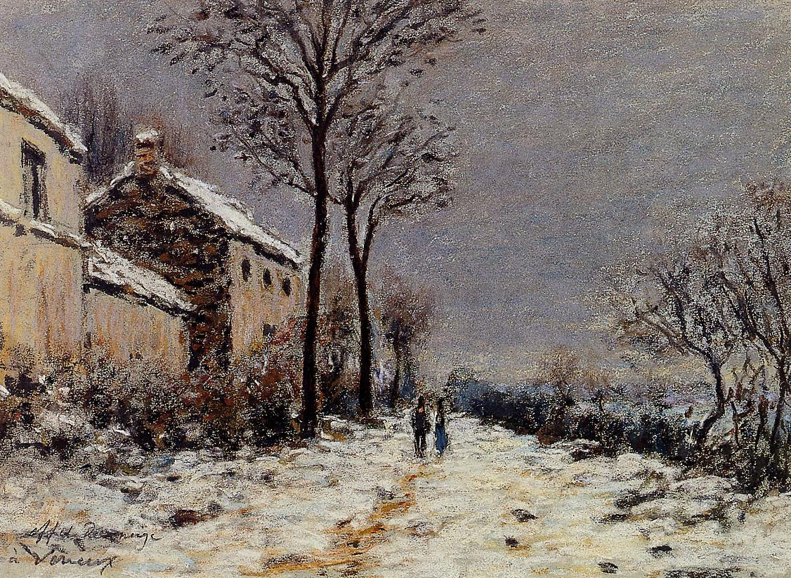 Snow Effect at Veneux   1   Alfred Sisley   Oil Painting