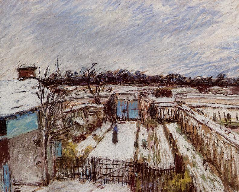 Snow Effect at Veneux   2   Alfred Sisley   Oil Painting