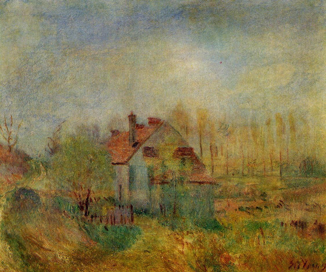 Springtime Landscape  1890   Alfred Sisley   Oil Painting